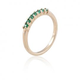 Золотое кольцо с изумрудом (К0415)