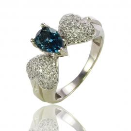 Золотое кольцо с аметистом (К1191)