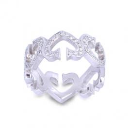 Золотое кольцо с куб. цирконием (К0186)