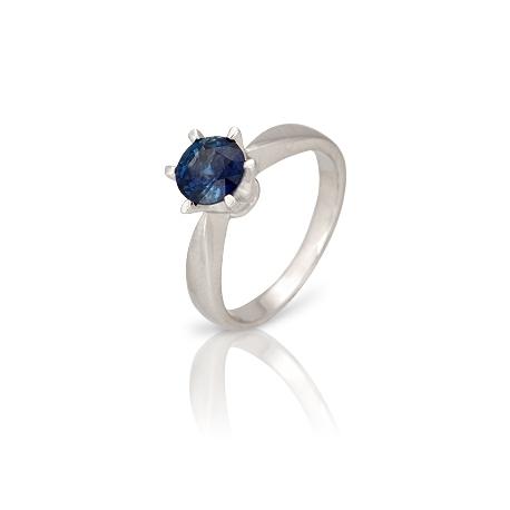 Золотое кольцо с сапфиром (К0188)
