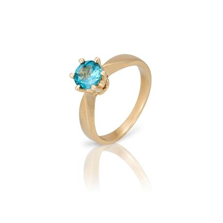 Золотое кольцо с топазом (К0188)