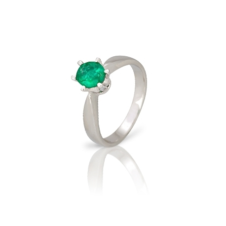 Золотое кольцо с изумрудом (К0188)