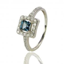 Золотое кольцо топазом лондон (К0825)