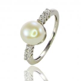 Золотое кольцо с жемчугом (К0406)