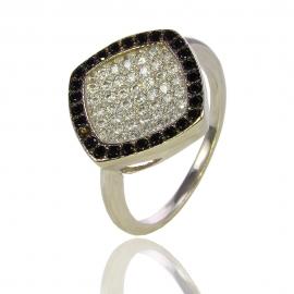 Золотое кольцо с шпинелью и куб. цирконием (К0656)