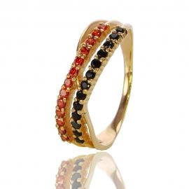 Золотое кольцо с куб. цирконием (К0841)