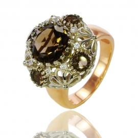 Золотое кольцо с  кварцем (К0861)