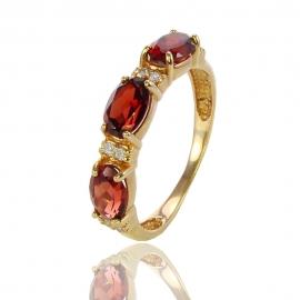 Золотое кольцо с гранатом (К0891)