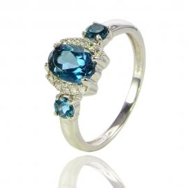 Золотое кольцо с топазом лондон (К0893)
