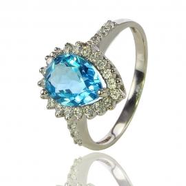 Золотое кольцо с топазом (К0925)