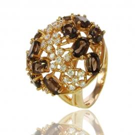 Золотое кольцо с кварцем (К0938)
