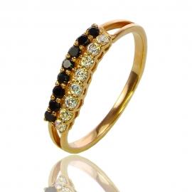 Золотое кольцо с ку. цирконием и шпинелью (К0950)