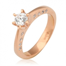 Золотое кольцо с куб. цирконием (К0189)