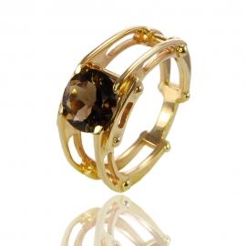 Золотое кольцо с кварцем (К0979)