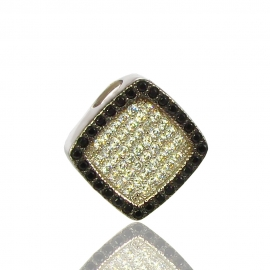 Золотой кулон с куб. цирконием и шпинелью (П0522)