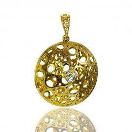 Золотой кулон с куб. цирконием (П0707)