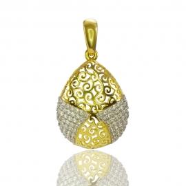 Золотой кулон с куб. цирконием (П0710)