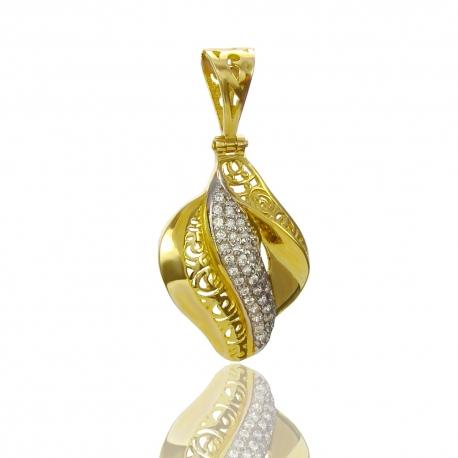 Золотой кулон с куб.цирконием (П0743)