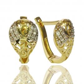 Золотые серьги с куб. цирконием (С0946)