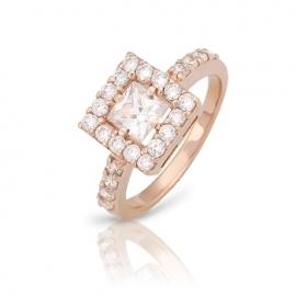 Золотое кольцо с куб. цирконием (К0200)