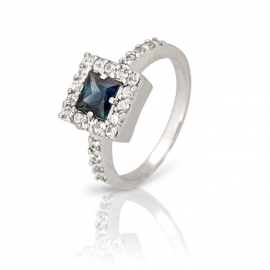 Золотое кольцо с сапфиром (К0200)