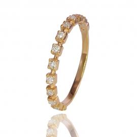 Золотое кольцо с куб. цирконием (К1340)