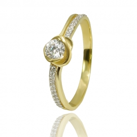 Золотое кольцо с куб. цирконием (К1342)